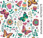 seamless floral colorful vector ...   Shutterstock .eps vector #427410175