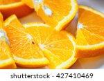 fresh juicy orange fruit slice... | Shutterstock . vector #427410469