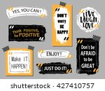 vector quote boxes collection.... | Shutterstock .eps vector #427410757