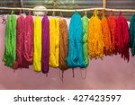 colorful yarns traditionally... | Shutterstock . vector #427423597