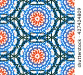 vector tribal colorful bohemian ... | Shutterstock .eps vector #427424809