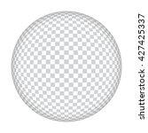 chequered ball | Shutterstock . vector #427425337