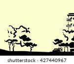 simple ink landscape | Shutterstock .eps vector #427440967