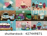 sweet set which consists of... | Shutterstock . vector #427449871