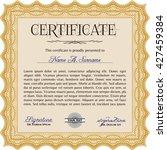 orange diploma template or... | Shutterstock .eps vector #427459384