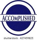 accomplished emblem with denim... | Shutterstock .eps vector #427459825