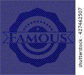 famous emblem with jean texture | Shutterstock .eps vector #427462507