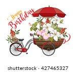 Happy Birthday Card With Flowe...