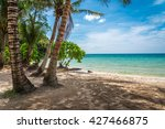 beautiful tropical island beach ... | Shutterstock . vector #427466875
