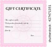 vector gift certificate...   Shutterstock .eps vector #427471351