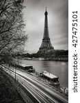 The Eiffel Tower And Seine...