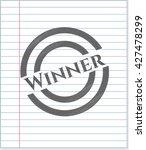 winner emblem with pencil effect   Shutterstock .eps vector #427478299