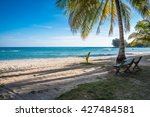 beach chair on beautiful... | Shutterstock . vector #427484581
