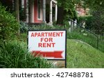 apartment for rent sign... | Shutterstock . vector #427488781