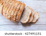 top view of sliced wholegrain... | Shutterstock . vector #427491151