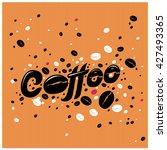 coffee shop illustration design ... | Shutterstock .eps vector #427493365