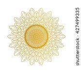 sunflower illustration | Shutterstock .eps vector #427499335