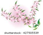 pink flowers watercolor design