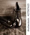vintage boys leather boots from ... | Shutterstock . vector #427507615