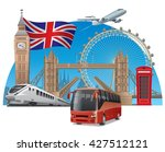 concept illustration of travel... | Shutterstock .eps vector #427512121
