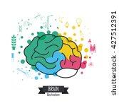 brain design. mind concept....   Shutterstock .eps vector #427512391