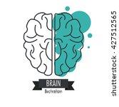 brain design. mind concept.... | Shutterstock .eps vector #427512565