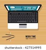 work time design. office icon.... | Shutterstock .eps vector #427514995