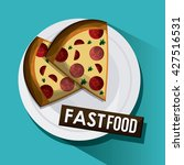 fast food design. menu icon.... | Shutterstock .eps vector #427516531