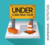 under construction design. tool ... | Shutterstock .eps vector #427517131