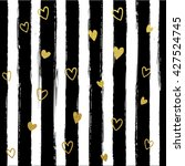 glitter gold striped  with... | Shutterstock .eps vector #427524745