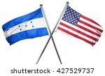 honduras flag with american... | Shutterstock . vector #427529737
