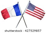 france flag with american flag  ...   Shutterstock . vector #427529857