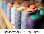 Colorful Thread Spools Used In...