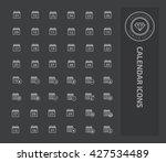 calendar icon set design vector | Shutterstock .eps vector #427534489
