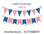 cute usa festive bunting flags... | Shutterstock . vector #427548859