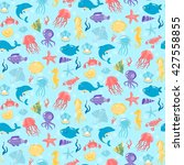 seamless pattern with different ... | Shutterstock .eps vector #427558855