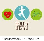 healthy lifestyle design.... | Shutterstock .eps vector #427563175