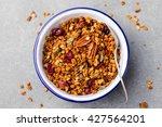 healthy breakfast. fresh... | Shutterstock . vector #427564201