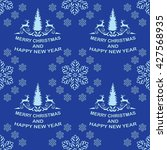 blue winter holiday pattern... | Shutterstock .eps vector #427568935