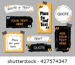 Stock vector vector quote collection hand drawn frames square rectangle and round speech boxes grunge brush 427574347