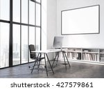 office interior with workplace  ... | Shutterstock . vector #427579861