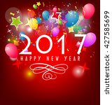 happy new year 2017 | Shutterstock . vector #427585699