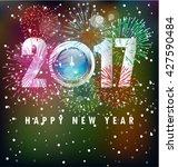 happy new year 2017 | Shutterstock . vector #427590484