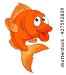 a friendly cartoon gold fish or ... | Shutterstock .eps vector #427592839