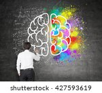 right and left hemispheres ... | Shutterstock . vector #427593619