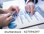 business people discussing the... | Shutterstock . vector #427594297