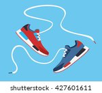 running shoes. sport shoes.... | Shutterstock .eps vector #427601611