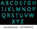 english alphabet letters design ... | Shutterstock . vector #427604671