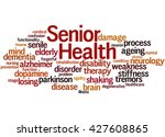 senior health  word cloud... | Shutterstock . vector #427608865