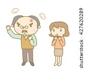 senior man who has become angry | Shutterstock .eps vector #427620289